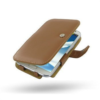 Samsung Galaxy Note 2 N7100 PDair Leather Case 3TSSN2B41 Ruskea