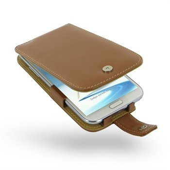 Samsung Galaxy Note 2 N7100 PDair Leather Case 3TSSN2F41 Ruskea