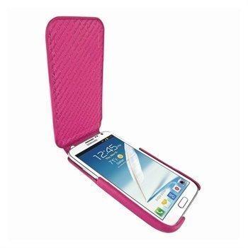 Samsung Galaxy Note 2 N7100 Piel Frama iMagnum Nahkakotelo Fuksia