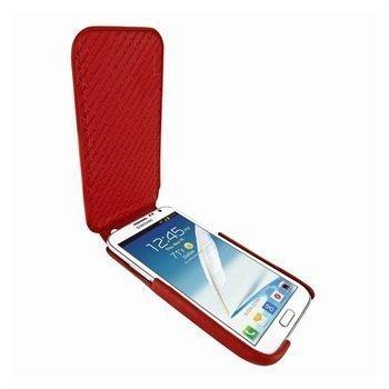 Samsung Galaxy Note 2 N7100 Piel Frama iMagnum Nahkakotelo Punainen