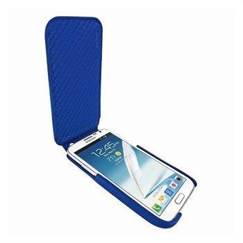 Samsung Galaxy Note 2 N7100 Piel Frama iMagnum Nahkakotelo Sininen