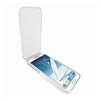 Samsung Galaxy Note 2 N7100 Piel Frama iMagnum Nahkakotelo Valkoinen