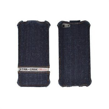Samsung Galaxy Note 2 N7100 StarCase Roma Flip Case Jeans Denim Blue