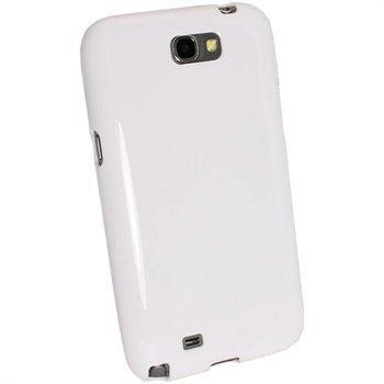Samsung Galaxy Note 2 N7100 iGadgitz Glossy TPU Case White