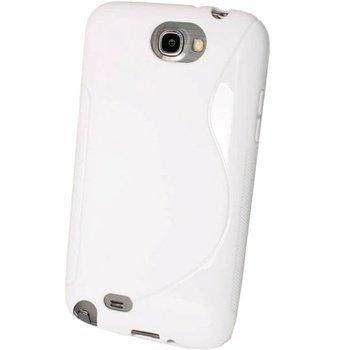 Samsung Galaxy Note 2 N7100 iGadgitz Kaksivärinen TPU-Suojakotelo Valkoinen