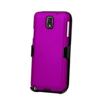 Samsung Galaxy Note 3 N9000 Beyond Cell 3in1 Yhdistelmäkotelo Violetti / Musta