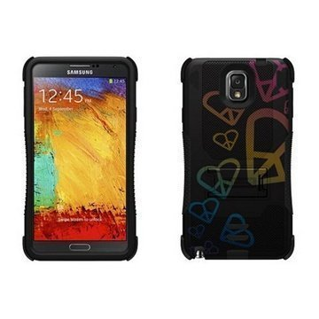Samsung Galaxy Note 3 N9000 N9005 Beyond Cell Tri Shield Hybrid Case Circle Collage
