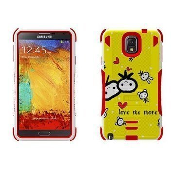 Samsung Galaxy Note 3 N9000 N9005 Beyond Cell Tri Shield Hybrid Case Love Me More