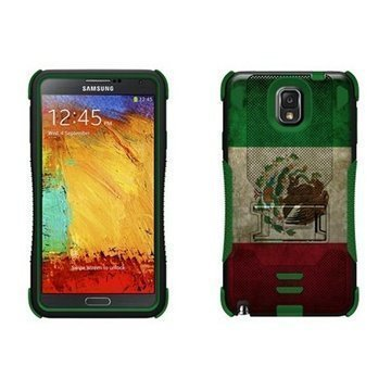 Samsung Galaxy Note 3 N9000 N9005 Beyond Cell Tri Shield Hybrid Case Mexican Flag
