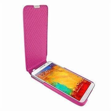Samsung Galaxy Note 3 N9000 N9005 Piel Frama iMagnum Leather Case Fuchsia