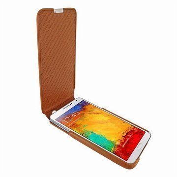 Samsung Galaxy Note 3 N9000 N9005 Piel Frama iMagnum Leather Case Tan