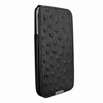 Samsung Galaxy Note 3 N9000 N9005 Piel Frama iMagnum Nahkakotelo Strutsi Musta