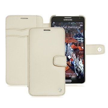 Samsung Galaxy Note 3 Noreve Tradition B Lompakkomallinen Nahkakotelo Beige