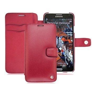 Samsung Galaxy Note 3 Noreve Tradition B Lompakkomallinen Nahkakotelo Punainen