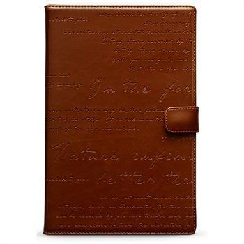 Samsung Galaxy Note 8.0 N5100 Zenus Masstige Lettering Diary Kotelo Ruskea