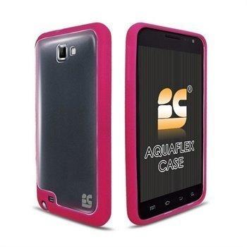 Samsung Galaxy Note N7000 Beyond Cell AquaFlex TPU-Suojakotelo Kuuma Pinkki / Kirkas