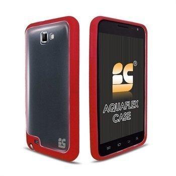 Samsung Galaxy Note N7000 Beyond Cell AquaFlex TPU-Suojakotelo Punainen / Kirkas