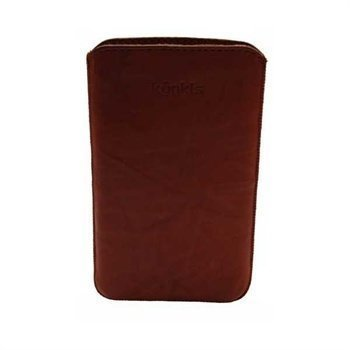 Samsung Galaxy Note N7000 Konkis Leather Case Washed Choco Brown