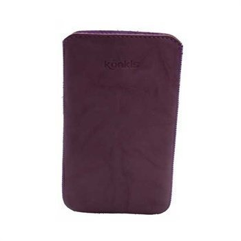 Samsung Galaxy Note N7000 Konkis Leather Case Washed Purple