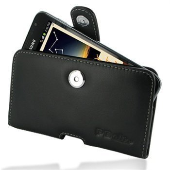 Samsung Galaxy Note N7000 PDair Horizontal Leather Case Black