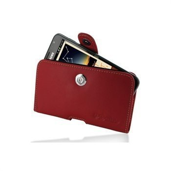 Samsung Galaxy Note N7000 PDair Horizontal Leather Case Punainen