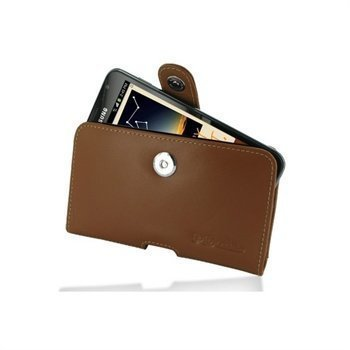 Samsung Galaxy Note N7000 PDair Horizontal Leather Case Ruskea