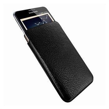 Samsung Galaxy Note N7000 Piel Frama Unipur Nahkakotelo Musta