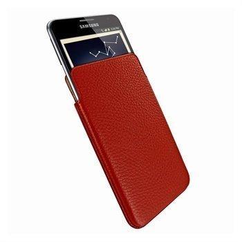 Samsung Galaxy Note N7000 Piel Frama Unipur Nahkakotelo Punainen