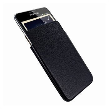 Samsung Galaxy Note N7000 Piel Frama Unipur Nahkakotelo Tummansininen