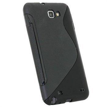 Samsung Galaxy Note N7000 iGadgitz Click-On Kotelo Kaksisävyinen Musta