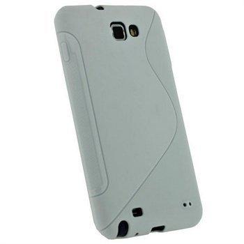 Samsung Galaxy Note N7000 iGadgitz Click-On Kotelo Kaksisävyinen Valkoinen