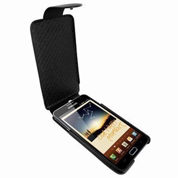 Samsung Galaxy Note Piel Frama iMagnum Nahkakotelo Musta