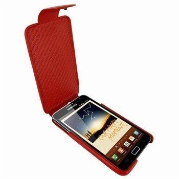 Samsung Galaxy Note Piel Frama iMagnum Nahkakotelo Punainen