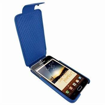 Samsung Galaxy Note Piel Frama iMagnum Nahkakotelo Sininen