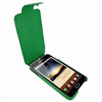 Samsung Galaxy Note Piel Frama iMagnum Nahkakotelo Vihreä