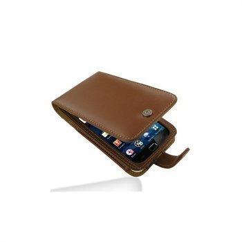Samsung Galaxy S WiFi 5.0 PDair Nahkakotelo Ruskea
