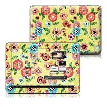Samsung Galaxy Tab 10.1 Button Flowers Skin