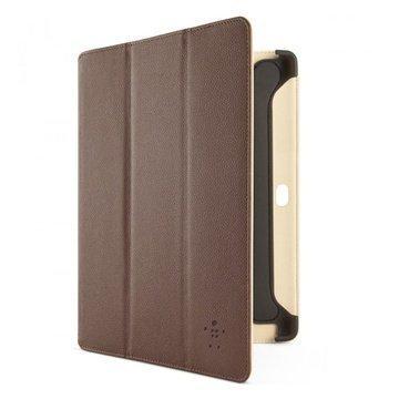 Samsung Galaxy Tab 2 10.1 P5100 P5110 Belkin Flip Folio Jalusta Ruskea