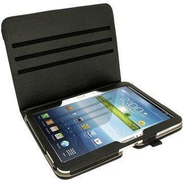 Samsung Galaxy Tab 3 10.1 P5200 P5210 Igadgitz PU Nahkakotelo Musta
