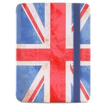 Samsung Galaxy Tab 3 10.1 P5200 P5210 Puro Zeta Slim Läppäkotelo Englannin lippu