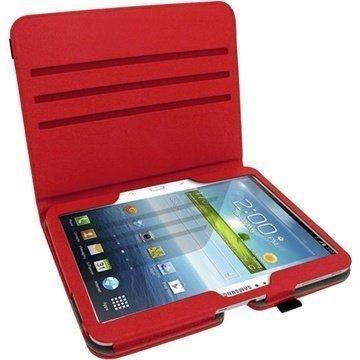 Samsung Galaxy Tab 3 10.1 P5200 P5210 iGadgitz PU Leather Case Red