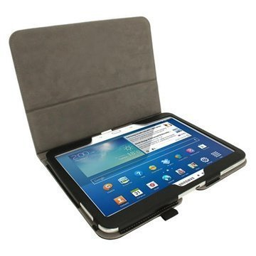 Samsung Galaxy Tab 3 10.1 P5200 P5210 iGadgitz Portfolio PU Leather Case Black