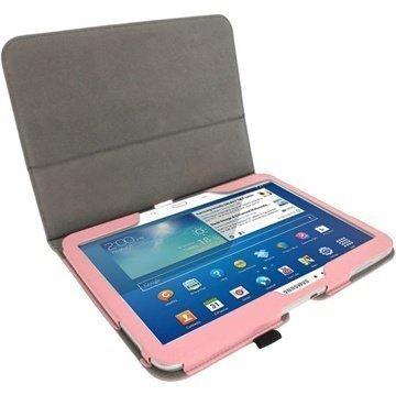 Samsung Galaxy Tab 3 10.1 P5200 P5210 iGadgitz Portfolio PU Leather Case Pink