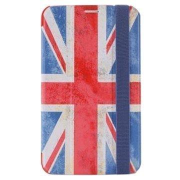 Samsung Galaxy Tab 3 7.0 P3200 P3210 Puro Zeta Slim Läppäkotelo Englannin lippu