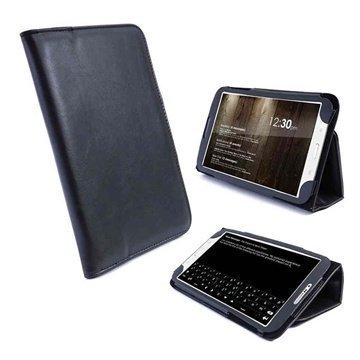 Samsung Galaxy Tab 3 7.0 P3200 P3210 Tuff-Luv Vintage Keinonahkakotelo Musta
