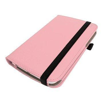 Samsung Galaxy Tab 3 7.0 P3200 P3210 iGadgitz PU Nahkakotelo Pinkki