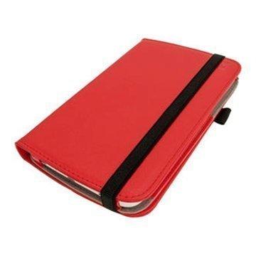 Samsung Galaxy Tab 3 7.0 P3200 P3210 iGadgitz PU Nahkakotelo Punainen