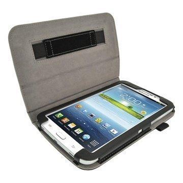 Samsung Galaxy Tab 3 7.0 P3200 P3210 iGadgitz Portfolio Leather Case Black