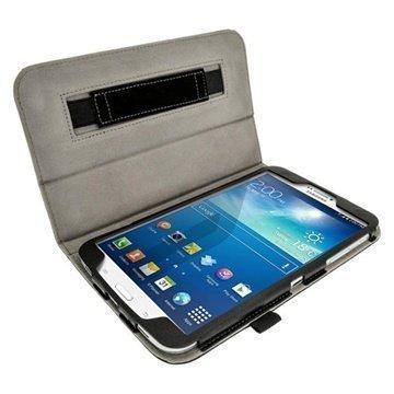 Samsung Galaxy Tab 3 8.0 iGadgitz Portfolio Nahkakotelo Musta