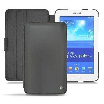 Samsung Galaxy Tab 3 Lite 7.0 Noreve Tradition Flip Nahkakotelo Musta